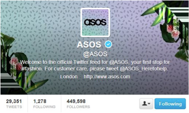 Asos Growing On Social Media