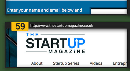 The Startup Magazine in the Top 100 Entreprenuer blogs