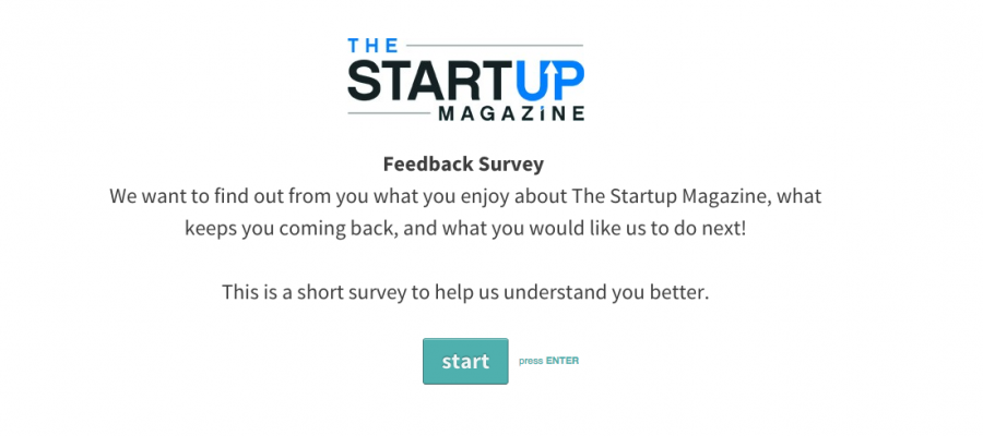 The Startup Magazine Feedback Survey