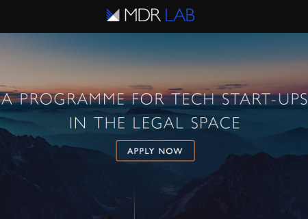 Startup Opportunity – MDR LAB Accelerator for Legal Tech Startups